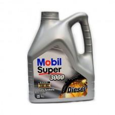 Моторное масло Mobil Super 3000 Diesel 5W-40, 4л.