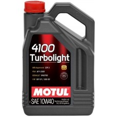 Моторное масло Motul 4100 Turbolight 10W-40 5л.