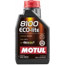 Моторное масло Motul 8100 Eco-lite 0W-20 1л.