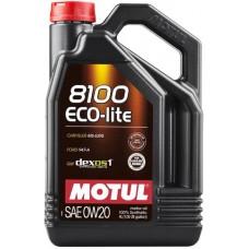 Моторное масло Motul 8100 Eco-lite 0W-20 4л.