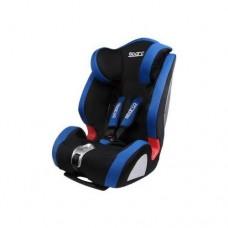 Детское автокресло с 9-18 кг - 15-36 кг, с 9 мес- 12 лет черно-синее Sparco