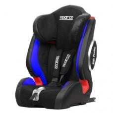 Детское кресло с 9-36 кг с системой ISOFIX, черно-синее Sparco