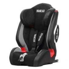 Детское кресло с 9-36 кг с системой ISOFIX, черно-красное Sparco