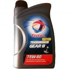 Трансмиссионное масло Total Transmission Gear 8 75W-80 1л.