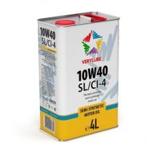 Полусинтетическое масло для легковых и грузовых автомобилей Verylube 10W-40 SL/CI-4. 4л